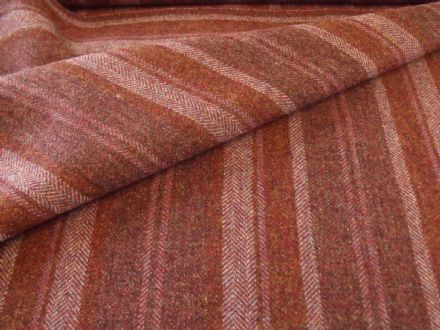 Wool Tweed Stripe Design Fabric AZ42